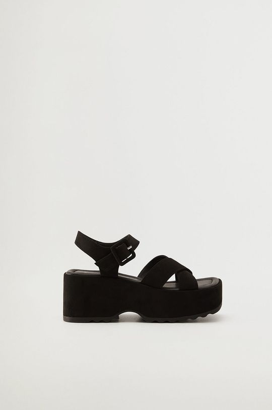 čierna Mango - Sandále SPICY Dámsky