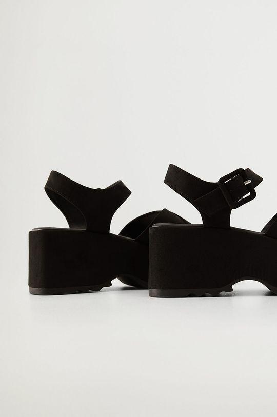 Mango - Sandále SPICY čierna