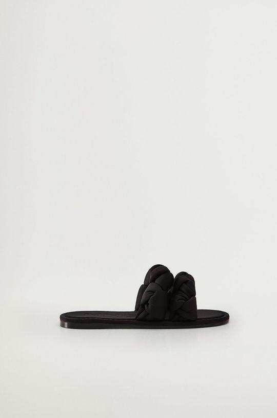 černá Mango - Pantofle ORI Dámský