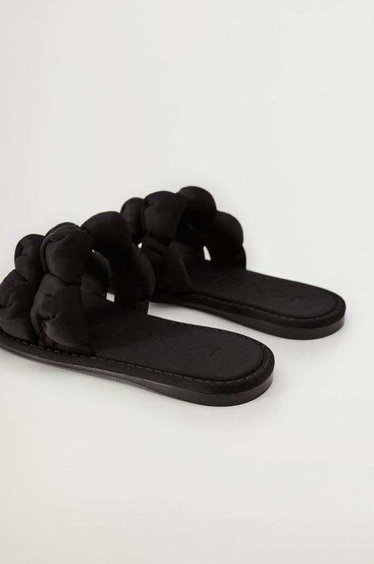 Mango - Pantofle ORI černá