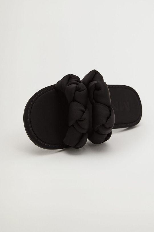 černá Mango - Pantofle ORI