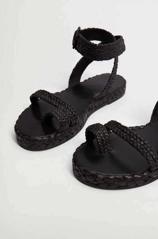 Mango - Sandály ARENA černá