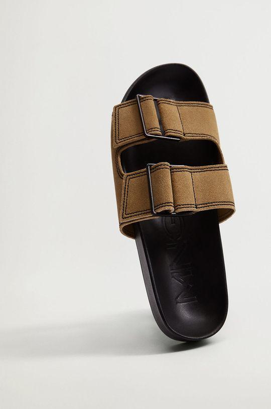 Mango - Kožené pantofle CEUTA  Svršek: Telecí kůže Podrážka: Termoplastická guma Vložka: Umělá hmota
