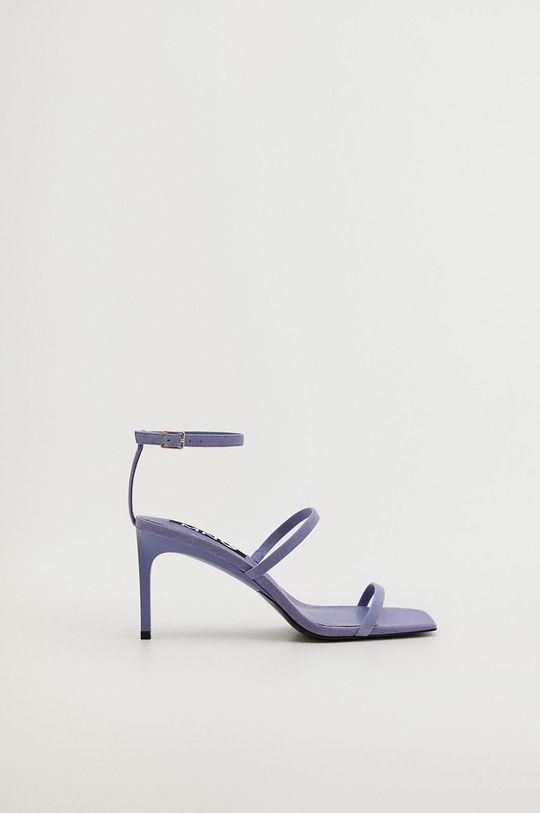 tyrkysová Mango - Kožené sandály ITALIA Dámský