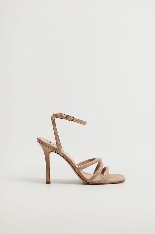 hnedá Mango - Sandále MAYBE Dámsky