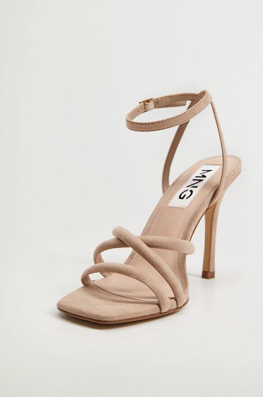 hnedá Mango - Sandále MAYBE