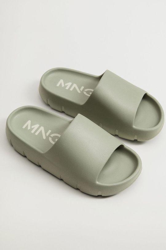Mango - Pantofle Flop zelená