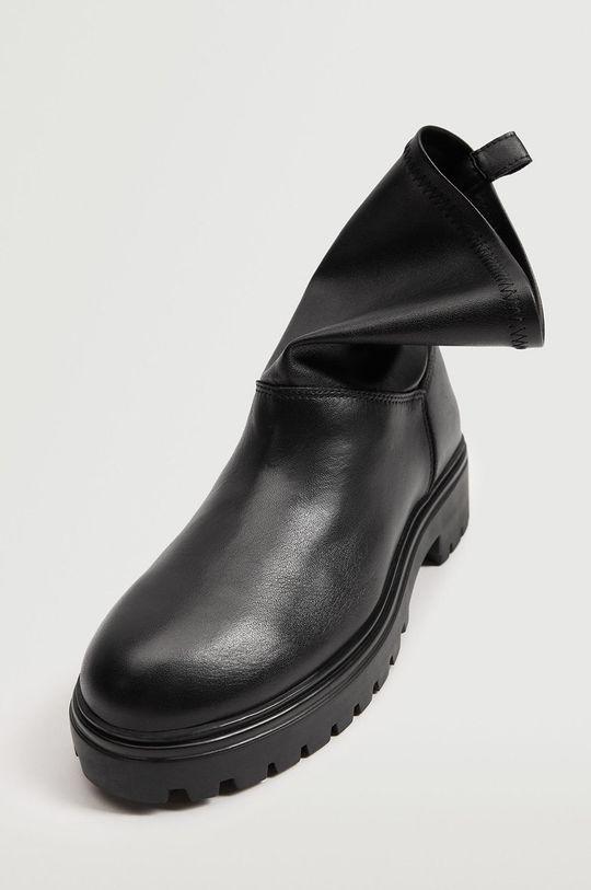 čierna Mango - Členkové topánky Strechy