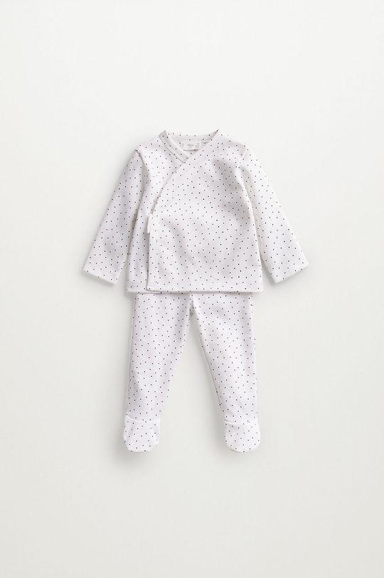 biały Mango Kids - Piżama niemowlęca LITUS Dziecięcy