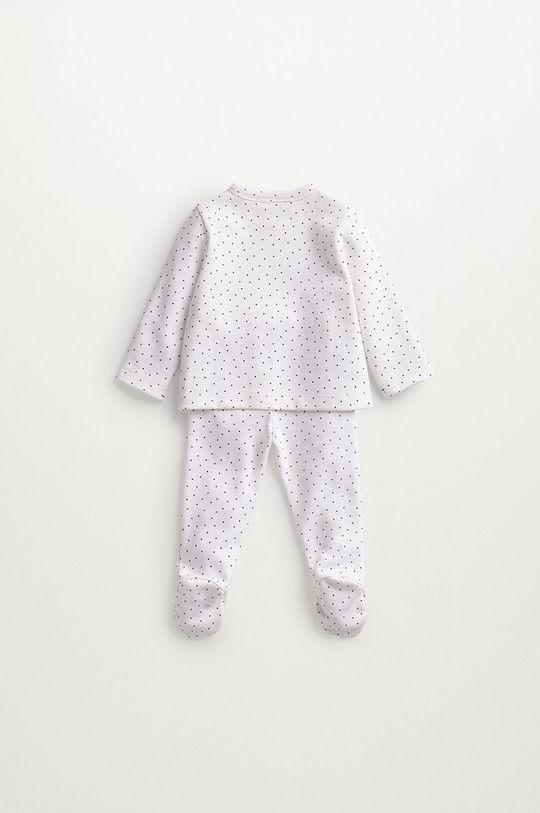 Mango Kids - Piżama niemowlęca LITUS biały