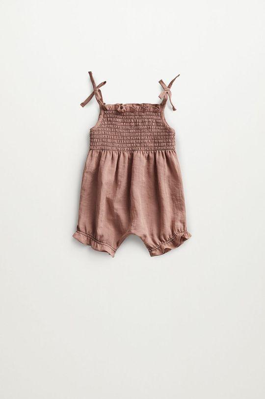 różowy Mango Kids - Kombinezon niemowlęcy Adri 62-80 cm Dziecięcy