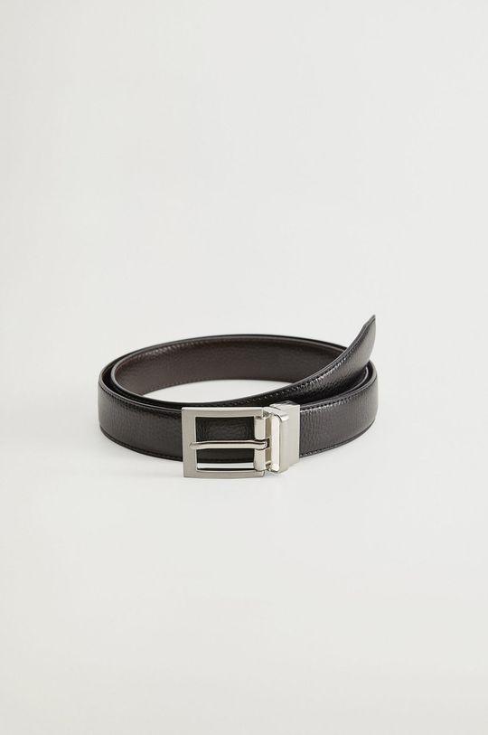černá Mango Man - Oboustranný kožený pásek EMILI4 Pánský