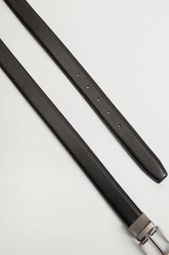 Mango Man - Oboustranný kožený pásek EMILI4 černá