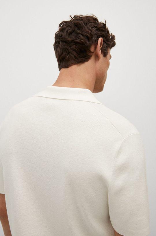 Mango Man - Polo tričko Lino  25% Bavlna, 11% Len, 30% Polyester, 34% Viskóza