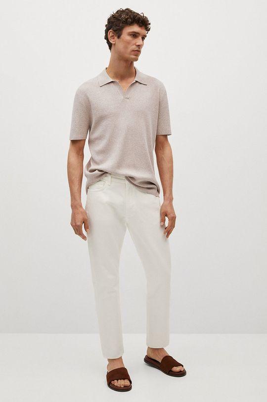 Mango Man - Polo tričko Lino tělová