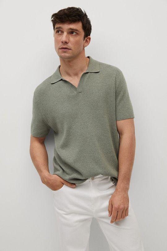 zlatohnědá Mango Man - Polo tričko Lino Pánský