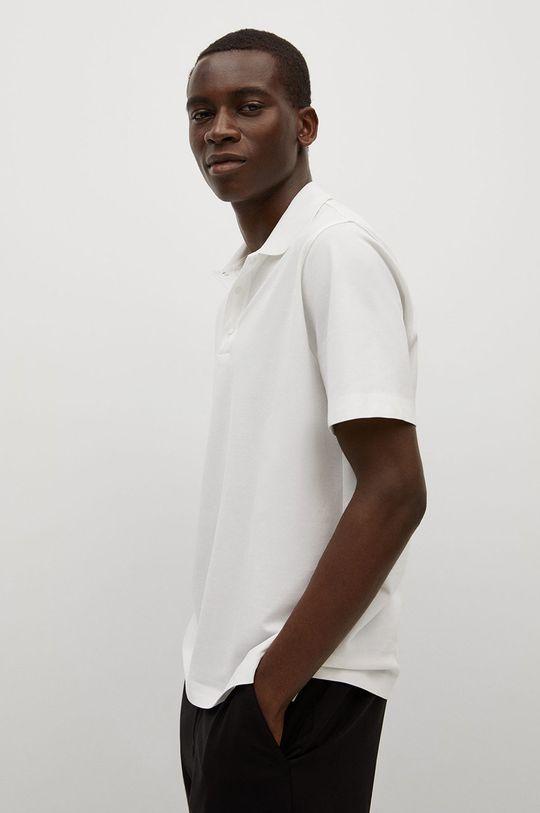 bílá Mango Man - Polo tričko Porsche