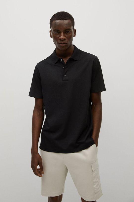 černá Mango Man - Polo tričko Porsche Pánský