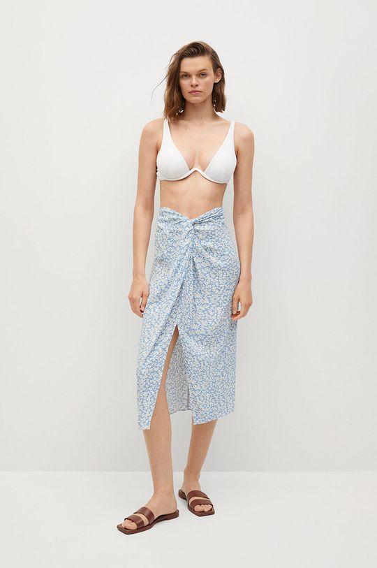 Mango - Spódnica Sand blady niebieski