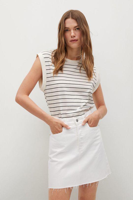 biela Mango - Rifľová sukňa Rachel Dámsky