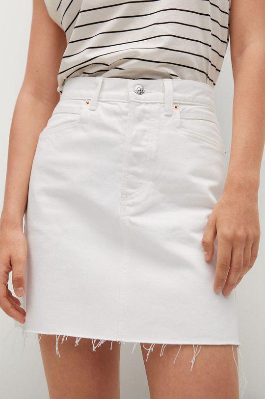 biela Mango - Rifľová sukňa Rachel