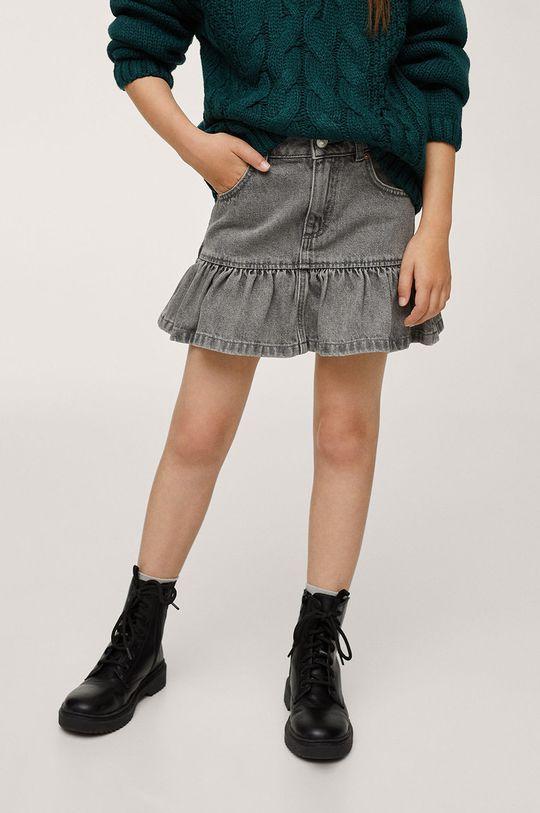 šedá Mango Kids - Dětská riflová sukně Lulu Dívčí