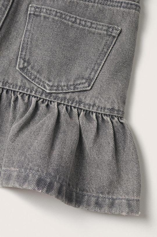 šedá Mango Kids - Dětská riflová sukně Lulu