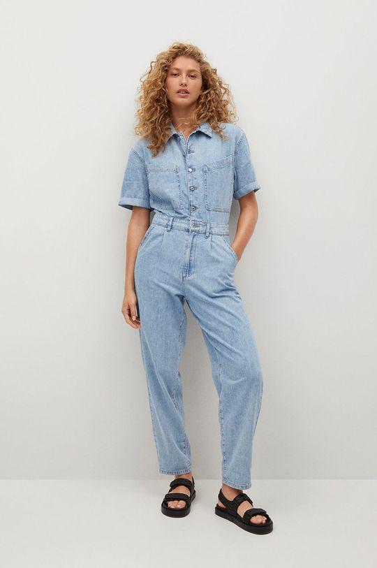 niebieski Mango - Kombinezon jeansowy Parisin Damski