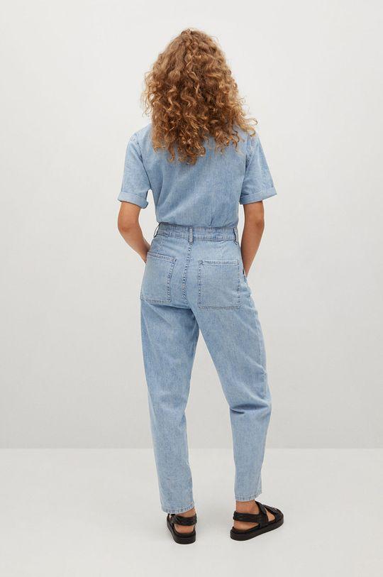 Mango - Kombinezon jeansowy Parisin niebieski