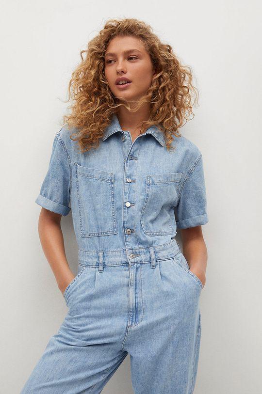 Mango - Kombinezon jeansowy Parisin Damski