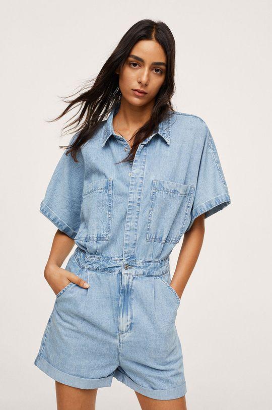 niebieski Mango - Kombinezon jeansowy MILA Damski