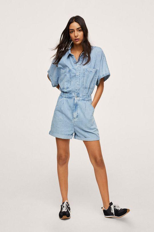 Mango - Kombinezon jeansowy MILA niebieski