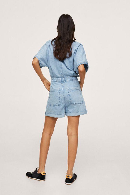 Mango - Kombinezon jeansowy MILA 100 % Bawełna