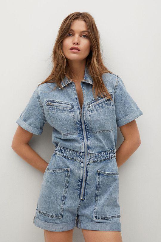 niebieski Mango - Kombinezon jeansowy ALMA Damski