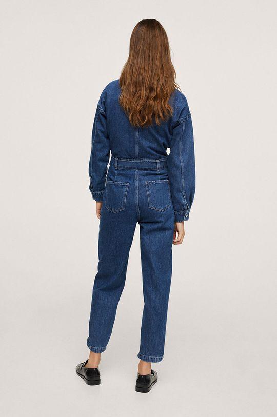 Mango - Kombinezon jeansowy Naomi morski