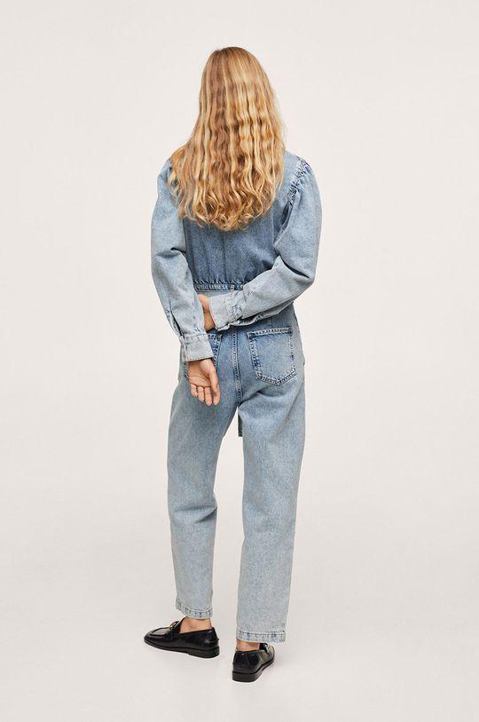 Mango - Kombinezon jeansowy Lola fioletowy