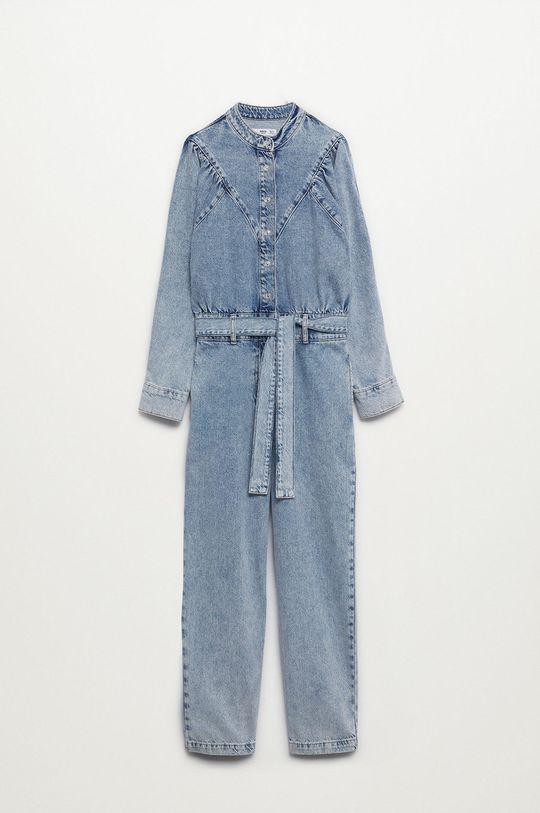 Mango - Kombinezon jeansowy Lola 100 % Bawełna