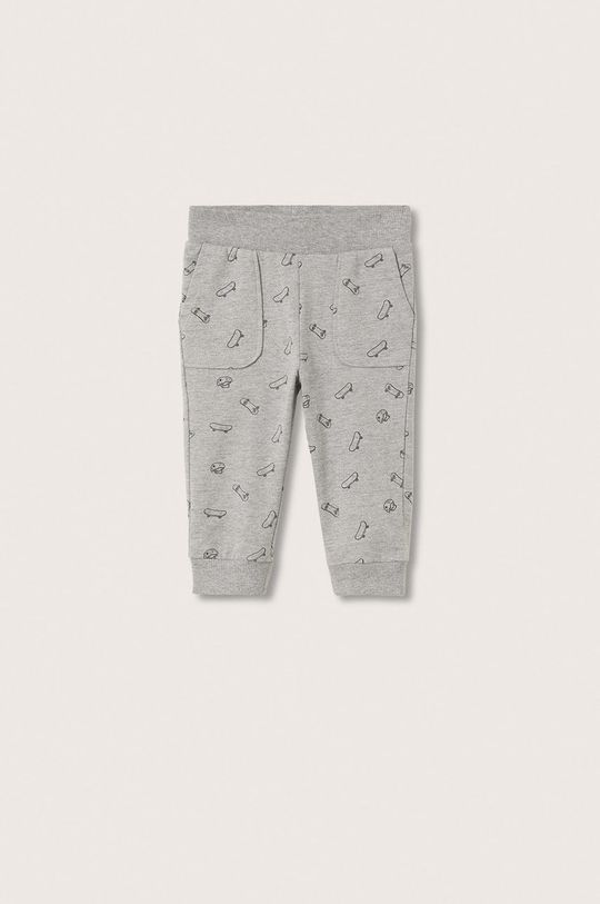 szary Mango Kids - Spodnie dziecięce Rollerp Chłopięcy