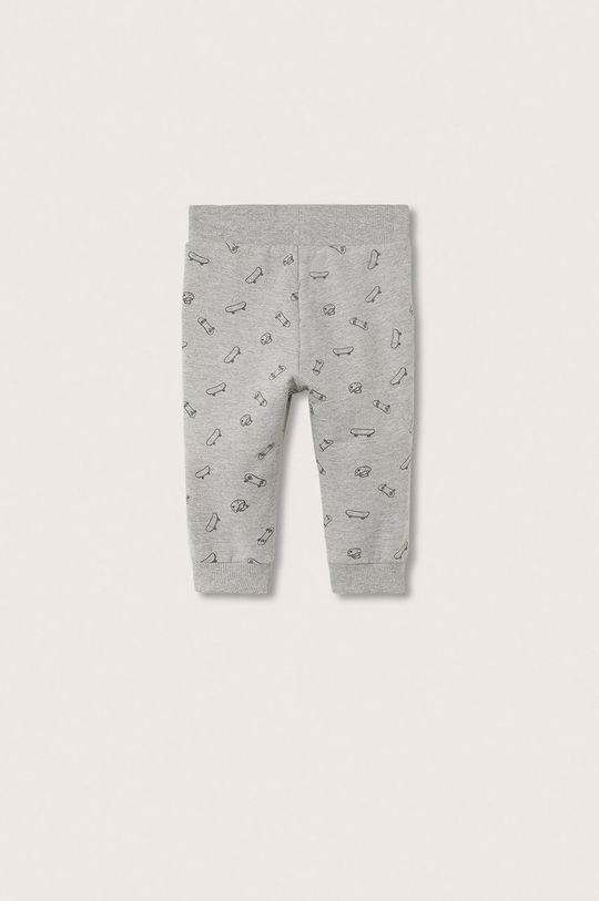 Mango Kids - Spodnie dziecięce Rollerp szary