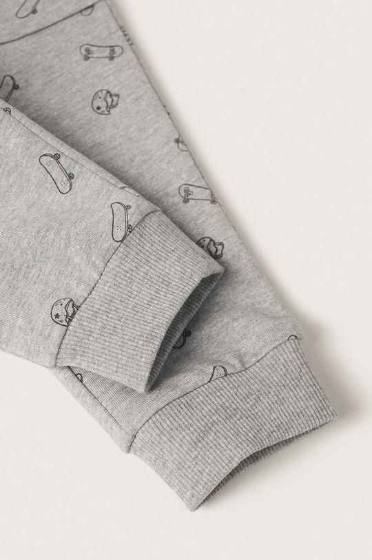 Mango Kids - Spodnie dziecięce Rollerp 90 % Bawełna, 10 % Wiskoza