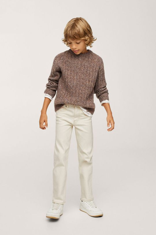 Mango Kids - Dětské kalhoty Nick béžová