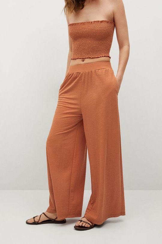 oranžová Mango - Kalhoty Tamara Dámský