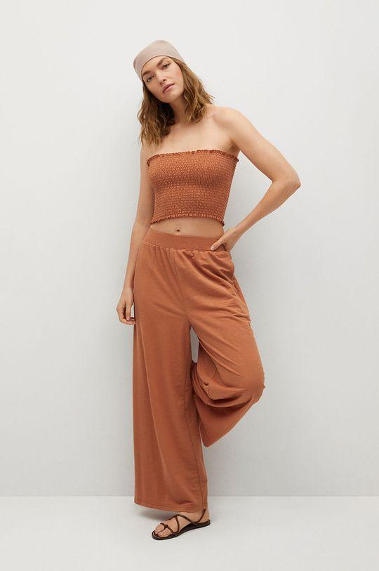 Mango - Kalhoty Tamara oranžová