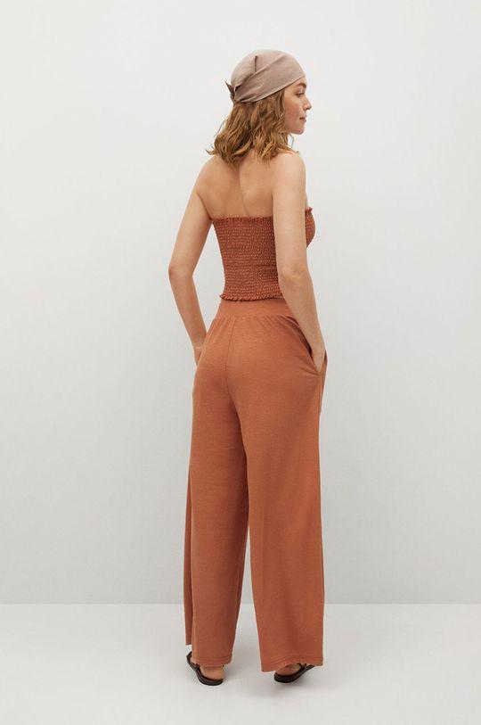 Mango - Kalhoty Tamara  Podšívka: 100% Polyester Hlavní materiál: 55% Polyamid, 45% Viskóza