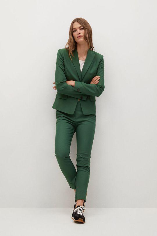 Mango - Kalhoty Cofi7-A zelená