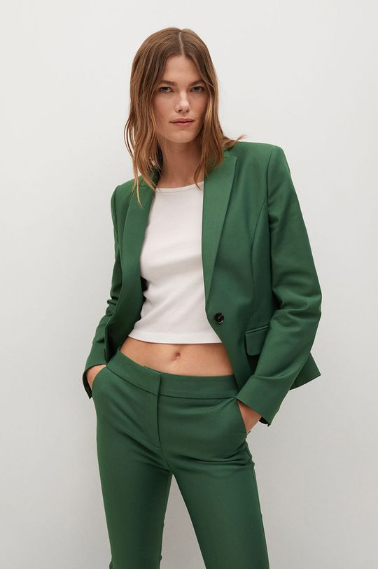 zelená Mango - Kalhoty Cofi7-A