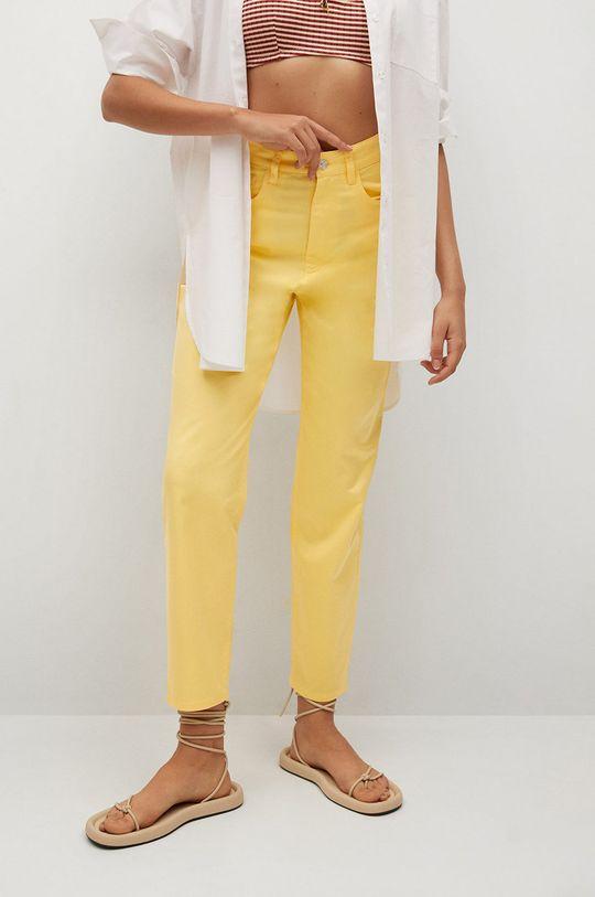 żółty Mango - Spodnie FIVES Damski