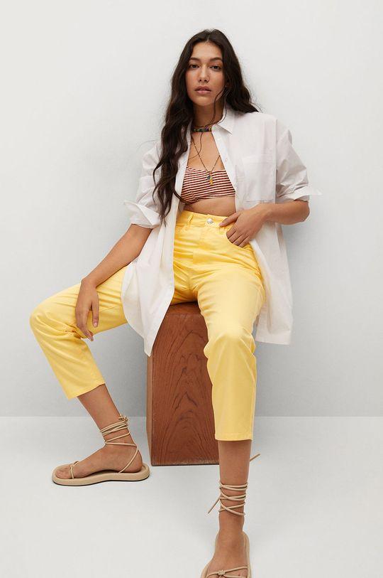 żółty Mango - Spodnie FIVES