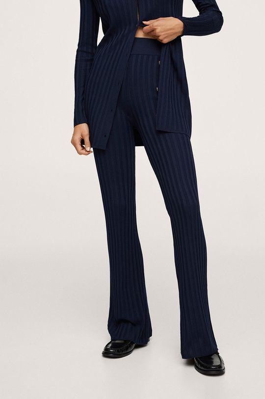 bleumarin Mango - Pantaloni Slitter De femei