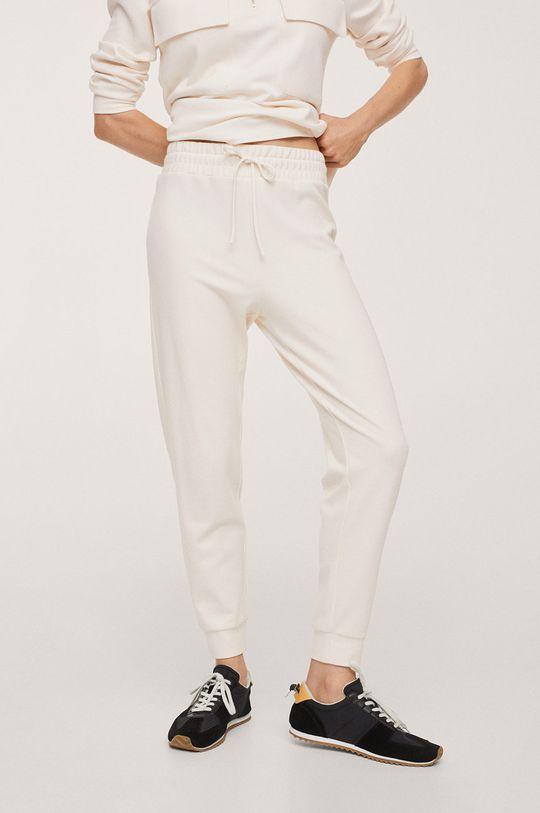 biały Mango - Spodnie Pique1 Damski